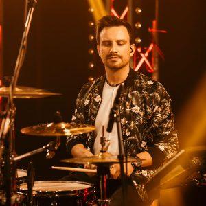 Schlagzeuger einer Live-Band
